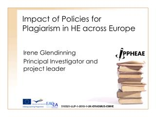 Impact of Policies for Plagiarism in HE across Europe