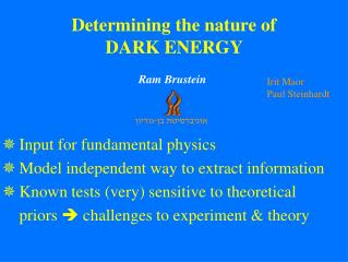 Input for fundamental physics Model independent way to extract information