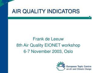AIR QUALITY INDICATORS
