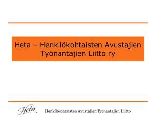 Heta – Henkilökohtaisten Avustajien Työnantajien Liitto ry