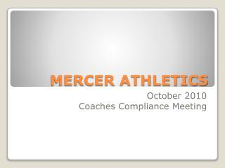 MERCER ATHLETICS