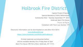 Holbrook Fire District