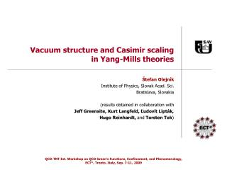 Vacuum structure and Casimir scaling in Yang-Mills theories