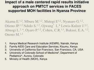 Kenya Medical Research Institute (KEMRI), Nairobi, Kenya