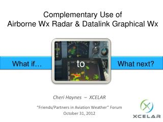 Complementary Use of  Airborne Wx Radar & Datalink Graphical Wx