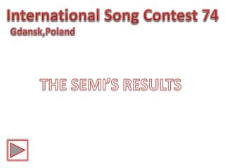 International Song Contest 74