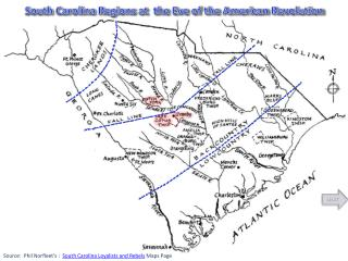 South Carolina Regions at  the Eve of the American Revolution