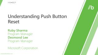 Understanding Push Button Reset