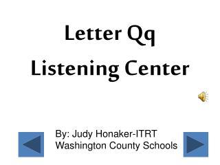 By: Judy Honaker-ITRT Washington County Schools