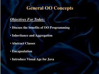 General OO Concepts