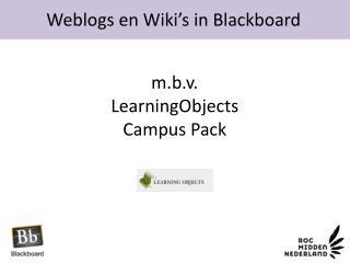 Weblogs en Wiki's in Blackboard