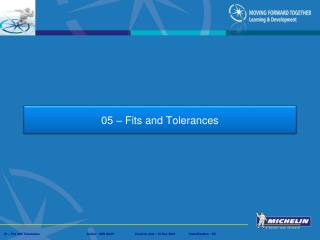 05 – Fits and Tolerances