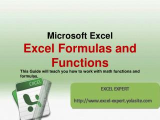 Microsoft Excel  Excel Formulas and Functions