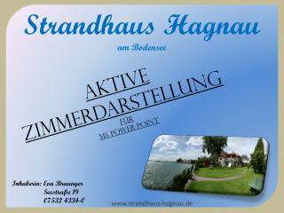 Strandhaus Hagnau am Bodensee
