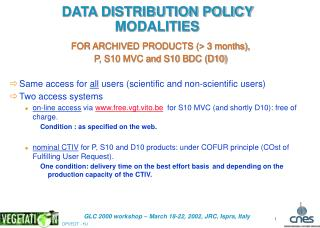 DATA DISTRIBUTION POLICY  MODALITIES