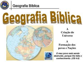 Geografia B�blica