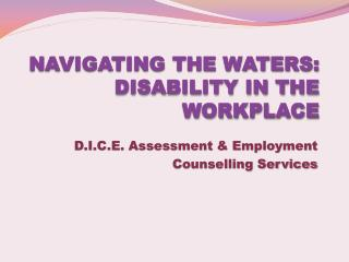 NAVIGATING THE WATERS: DISABILITY IN THE WORKPLACE