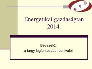 Energetikai gazdas�gtan 2014.