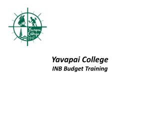Yavapai College INB Budget Training