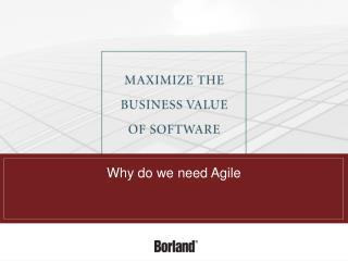 Why do we need Agile