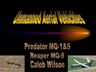 Unmanned Aerial Vehichles