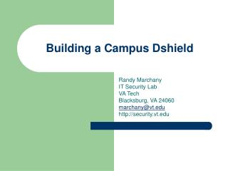 Building a Campus Dshield