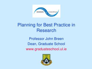 Planning for Best Practice in Research