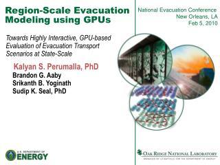 Region-Scale Evacuation Modeling using GPUs