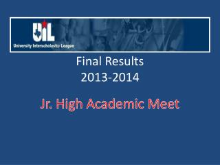 Final Results 2013-2014