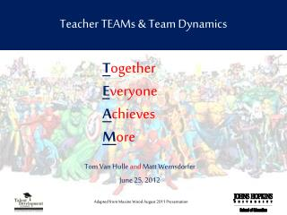 Teacher TEAMs & Team Dynamics