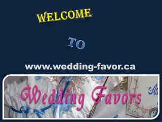 Wedding Favors Canada