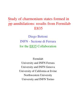 Study of charmonium states formed in  pp annihilations: results from Fermilab E835