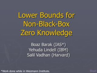Lower Bounds for  Non-Black-Box  Zero Knowledge