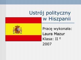 Ustrój polityczny w Hiszpanii
