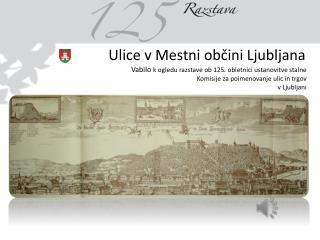 Komisija za poimenovanje naselij in ulic Mestnega sveta Mestne občine Ljubljana