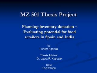 MZ 501 Thesis Project