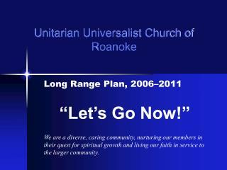 Unitarian Universalist Church of Roanoke