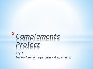 Complements Project