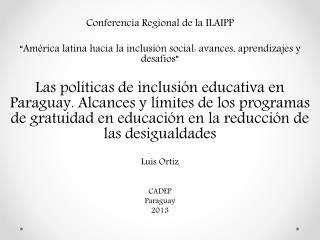 Conferencia Regional de la ILAIPP
