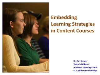 Embedding  Learning Strategies  in Content Courses