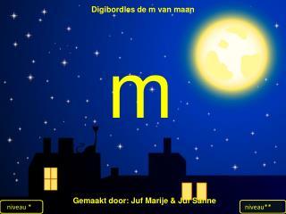 Digibordles  de m van maan