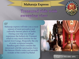 Maharaja Express Train Itinerary