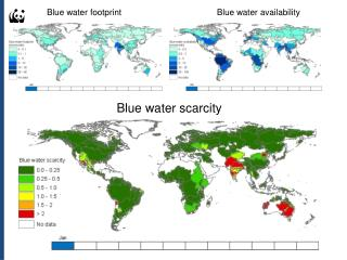 Blue water footprint	Blue water availability
