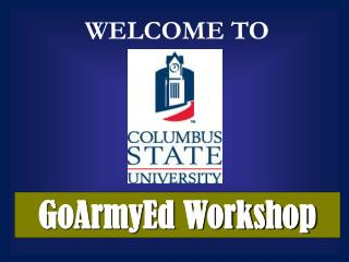 GoArmyEd Workshop