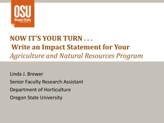 Linda J. Brewer Senior Faculty Research Assistant Department of Horticulture