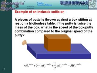 Example of an inelastic collision