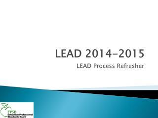 LEAD 2014-2015