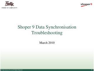 Shoper 9 Data Synchronisation Troubleshooting