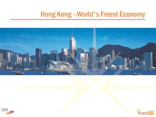 Hong Kong – World's Freest Economy