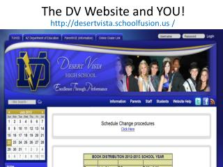 The DV Website and YOU!